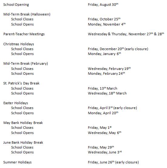 Timetable 2019.2020